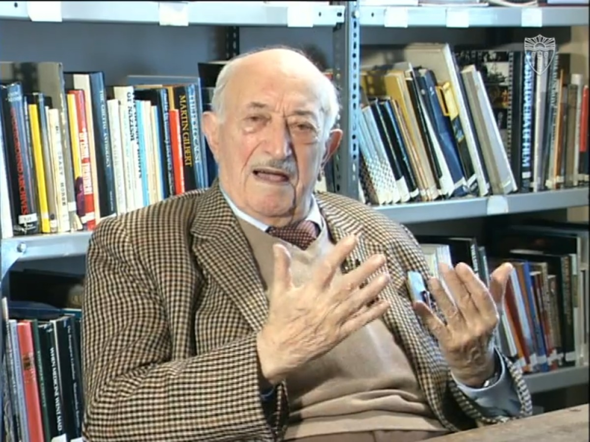 Simon Wiesenthal im Interview © USC Shoah Foundation