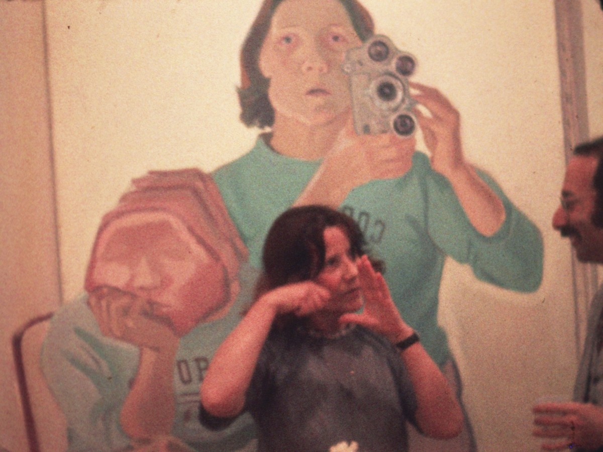 Stone Lifting. A Self Portrait in Progress, 197174, Maria Lassnig © 2017 Maria Lassnig Stiftung