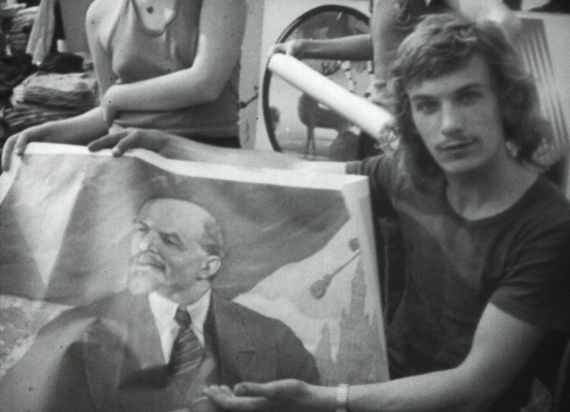 Volksstimmefest 1975. This still is taken from a short documentary film about the Volksstimmefest (Festival of the People's Voice) from the party organ of the Communist Party of Austria, which was probably produced by Hungarian television.