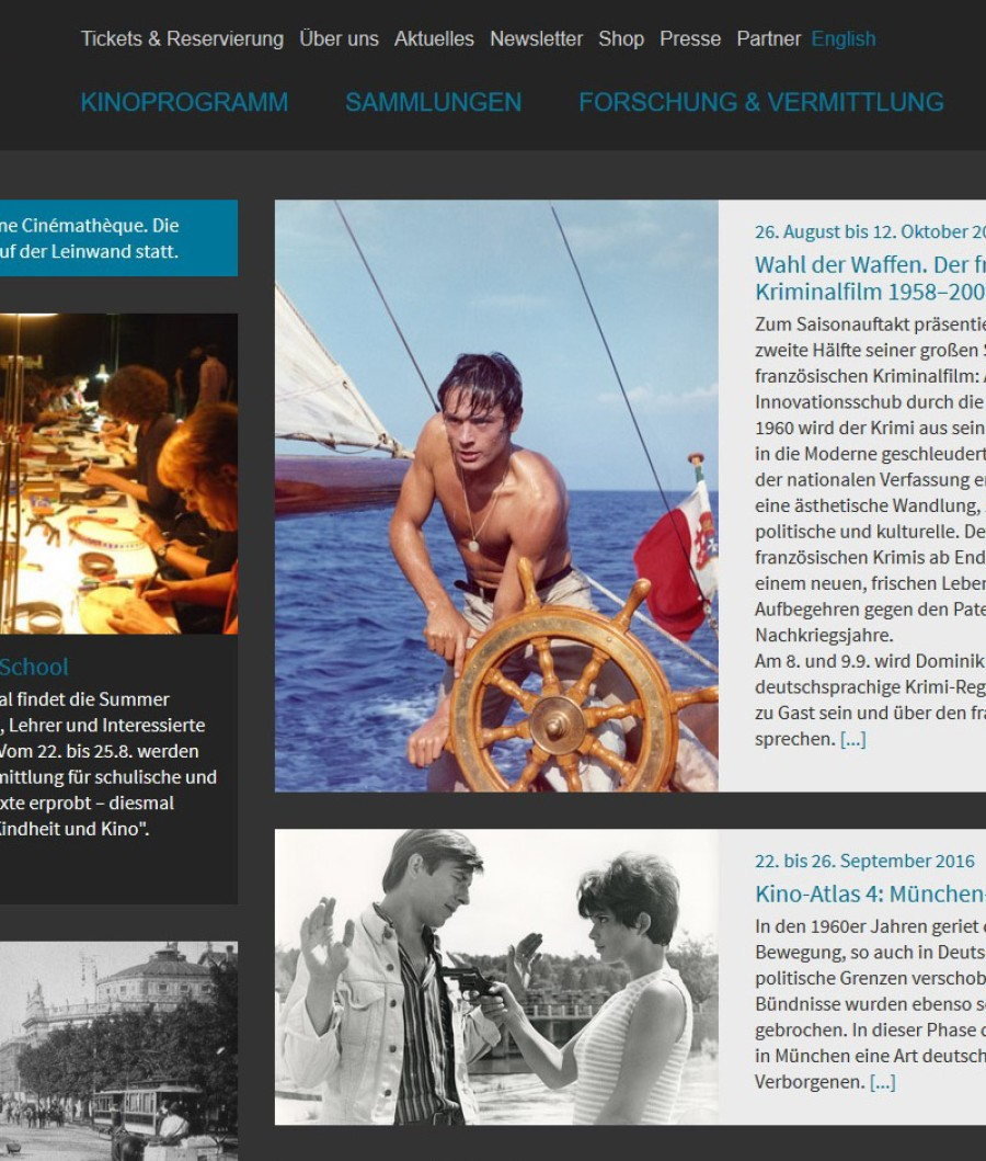 Relaunch Filmmuseum Website