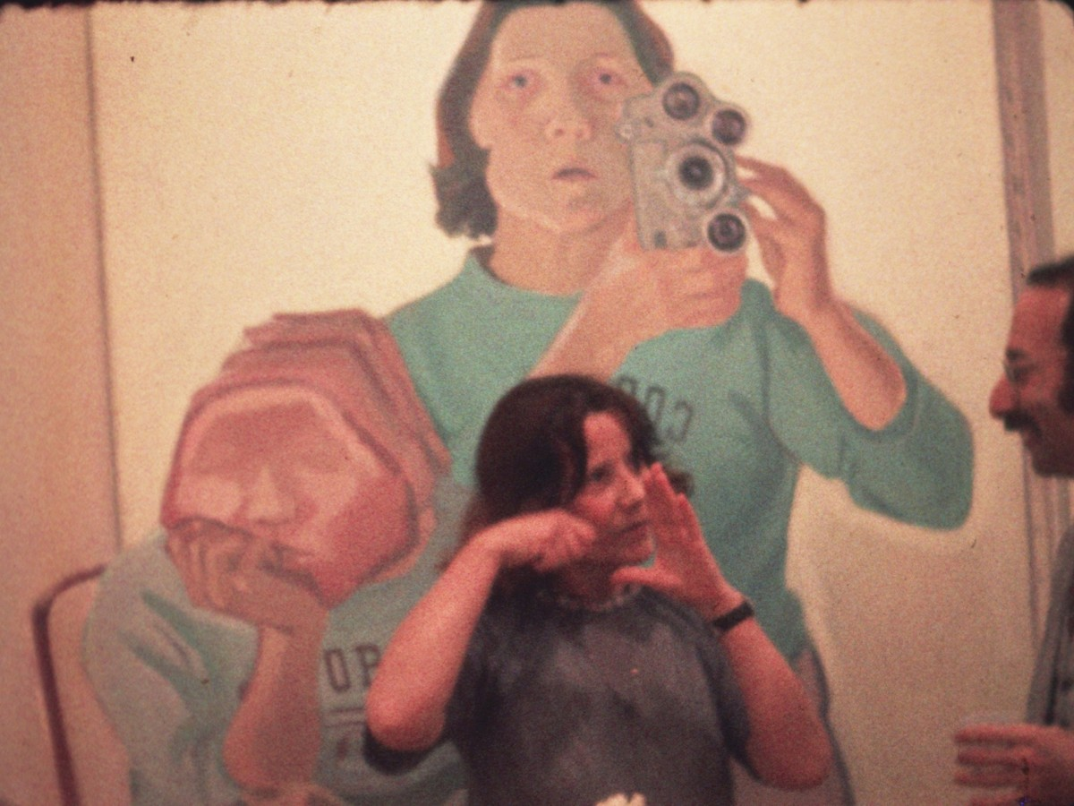 Stone-Lifting. A Self Portrait in Progress, 1971-74, Maria Lassnig © Maria Lassnig Privatstiftung